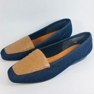 Enzo Angiolini Liberty Leather Studded Flats